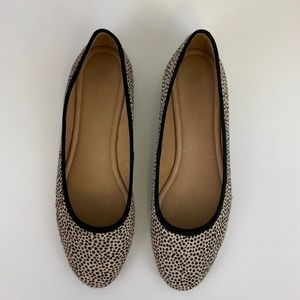 Madewell Reid Ballet Flat in Spotted Calf Hair 10